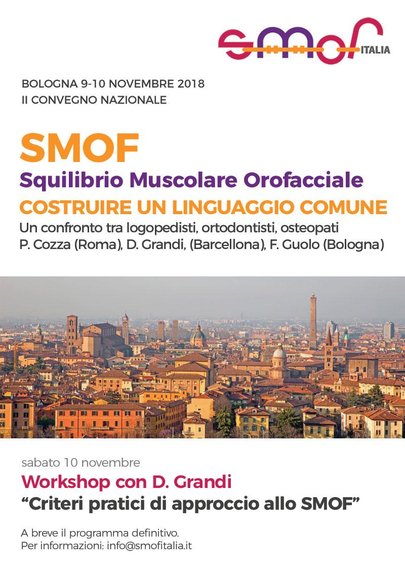 Locandina del convegno nazionale smof italia a Bologna